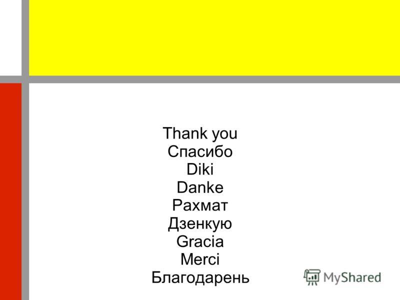 Thank you Спасибо Diki Danke Рахмат Дзенкую Gracia Merci Благодарень