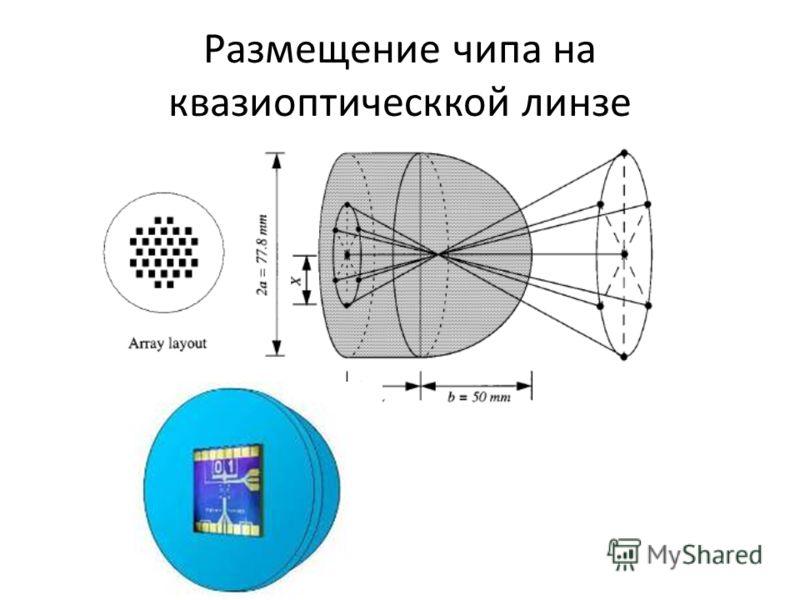 Размещение чипа на квазиоптическкой линзе
