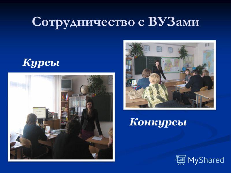 Сотрудничество с ВУЗами Курсы Конкурсы