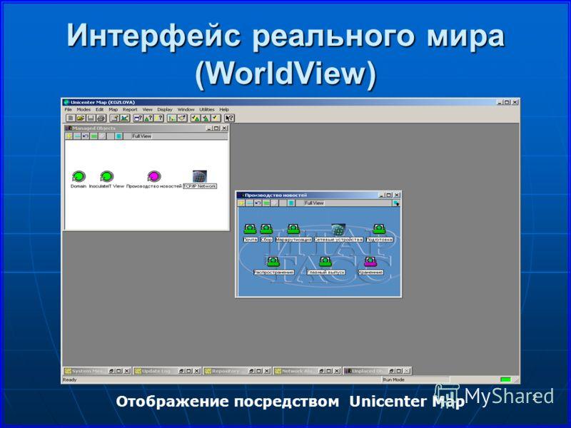 2 Интерфейс реального мира (WorldView) Отображение посредством Unicenter Map