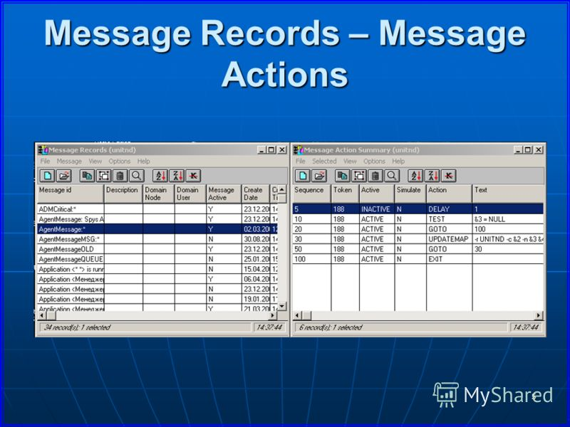 5 Message Records – Message Actions EventConsole