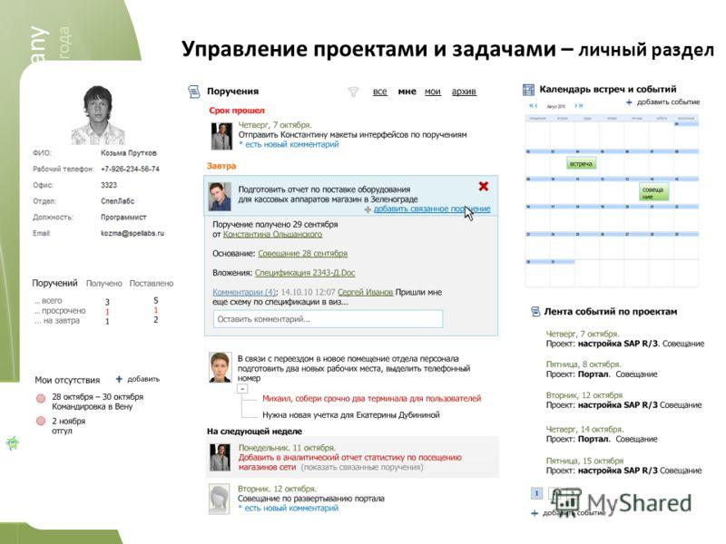 spellabs it.company 2004-2011 spellabs it.company работаем c 2004 года Управление проектами и задачами – личный раздел