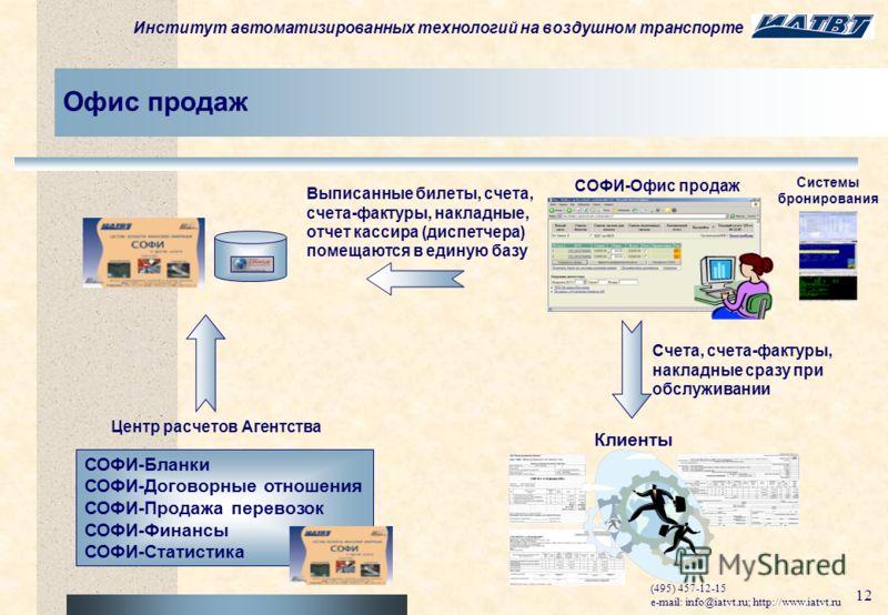 Институт автоматизированных технологий на воздушном транспорте (495) 457-12-15 e-mail: info@iatvt.ru; http://www.iatvt.ru 11 Дополнительные преимущества Cверка с обменным файлом ЕЦВ (ТКП) автоматизирует контроль ТКП и претензионную работу Автоматизир