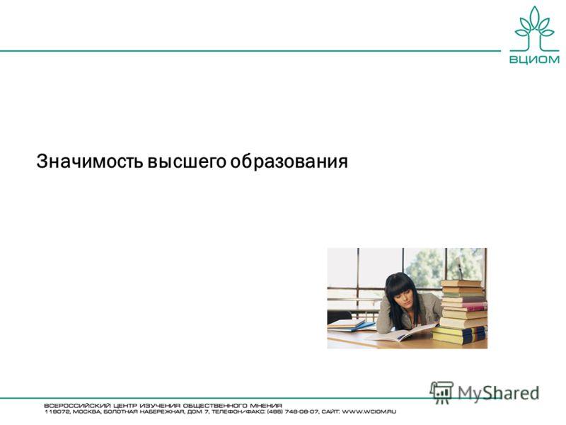 Значимость высшего образования