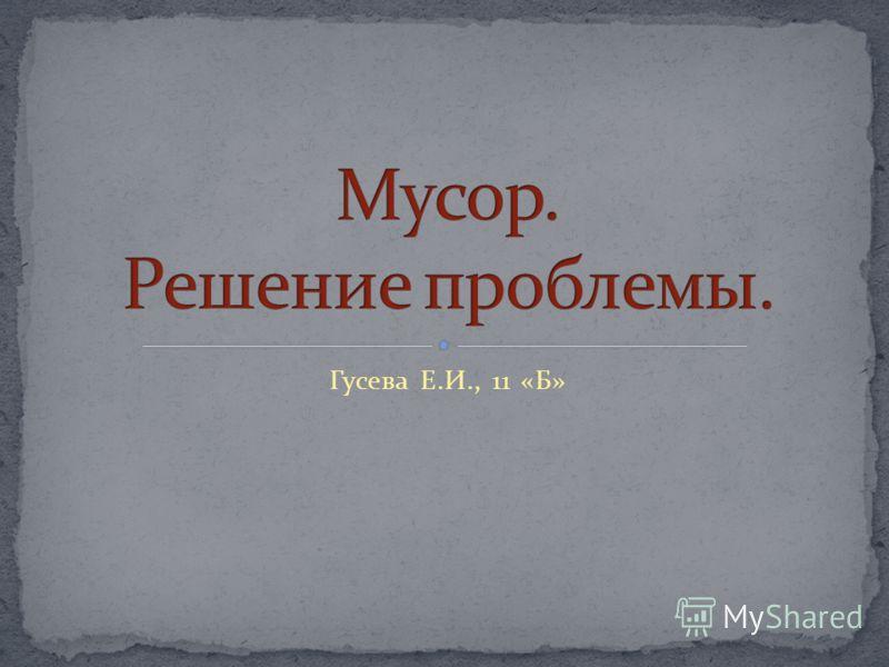 Гусева Е.И., 11 «Б»