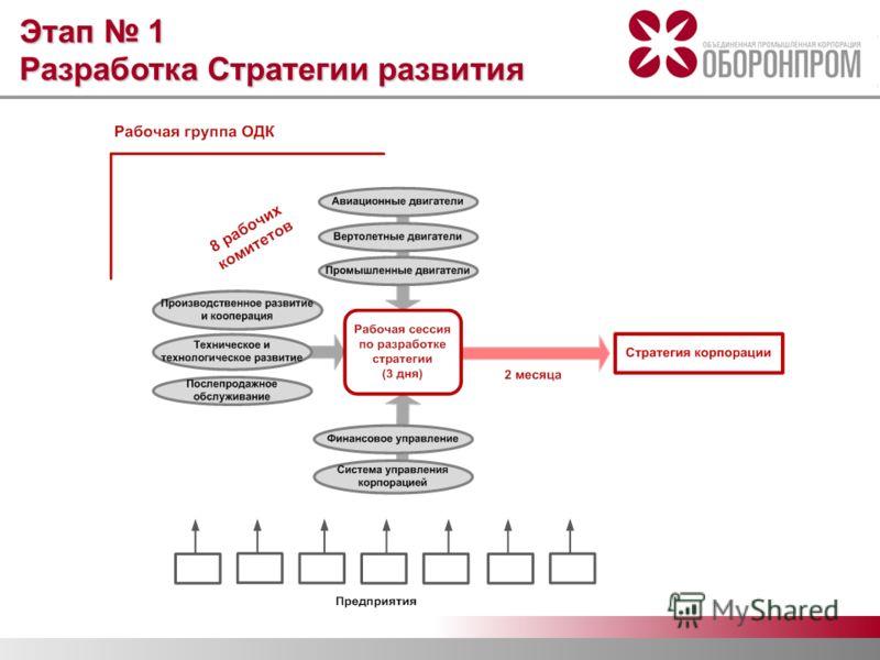Этап 1 Разработка Стратегии развития
