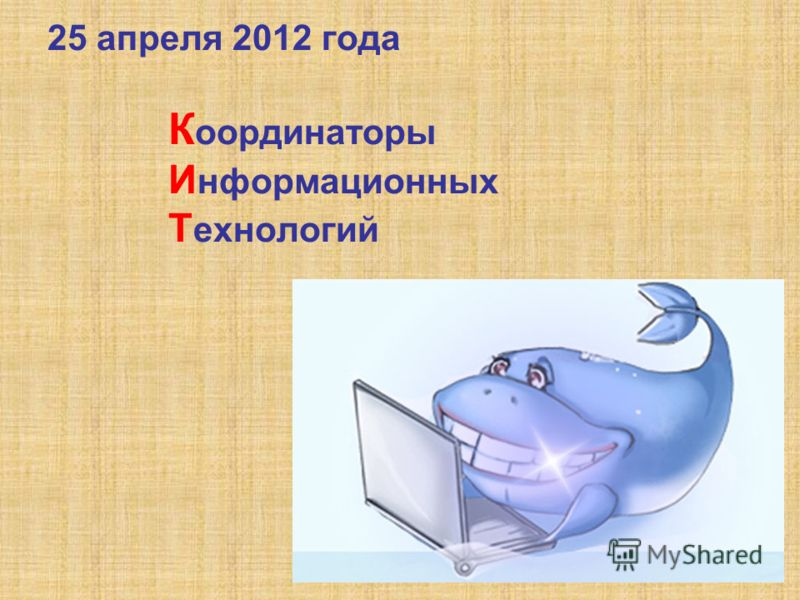 25 апреля 2012 года К оординаторы И нформационных Т ехнологий