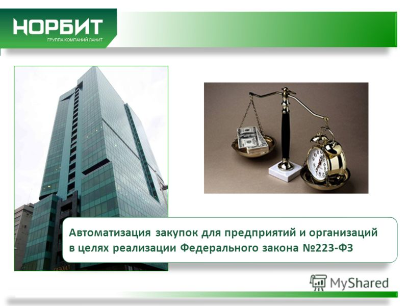 Автоматизация закупок для предприятий и организаций в целях реализации Федерального закона 223-ФЗ