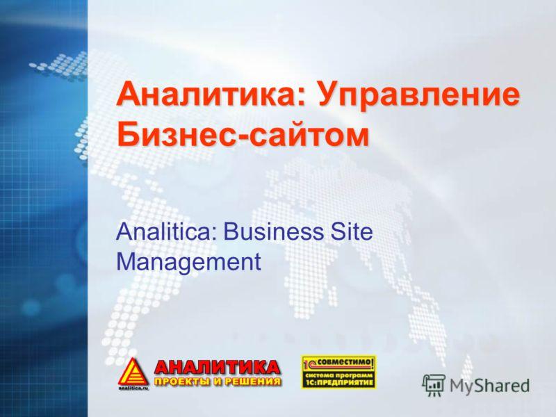 Аналитика: Управление Бизнес-сайтом Analitica: Business Site Management
