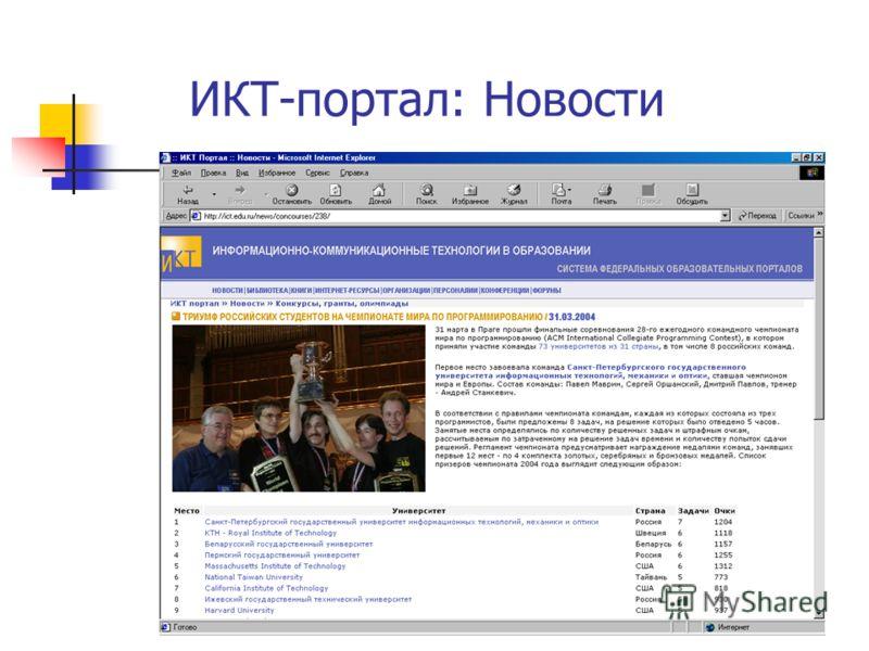 ИКТ-портал: Новости