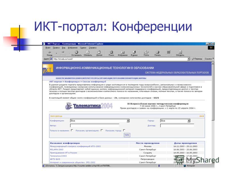 ИКТ-портал: Конференции