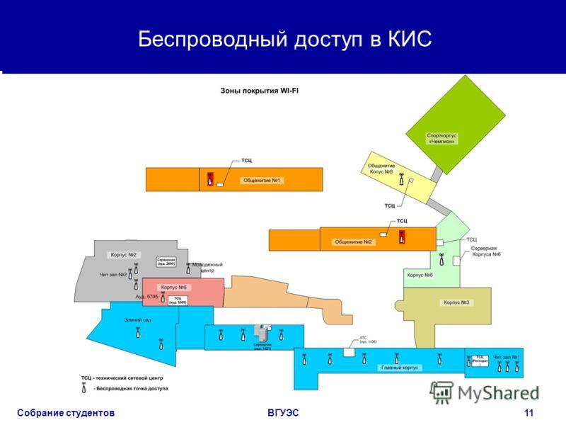 Собрание студентовВГУЭС11 Беспроводный доступ в КИС