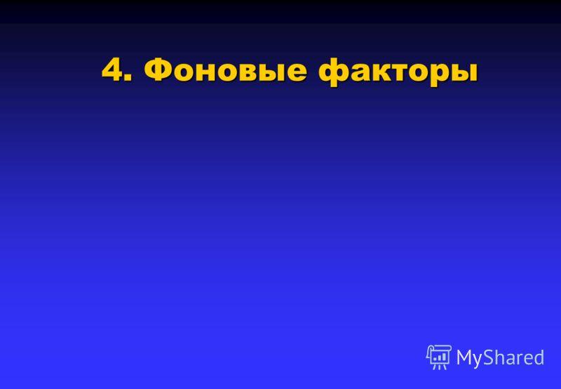 4. Фоновые факторы