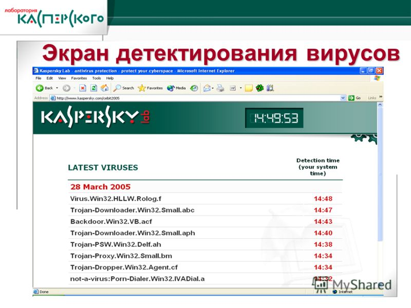 Kaspersky Labs 6 ht Annual Partner Conference · Turkey, June 2-6 2004 Kaspersky Labs 6 th Annual Partner Conference · Turkey, 2-6 June 2004 Экран детектирования вирусов