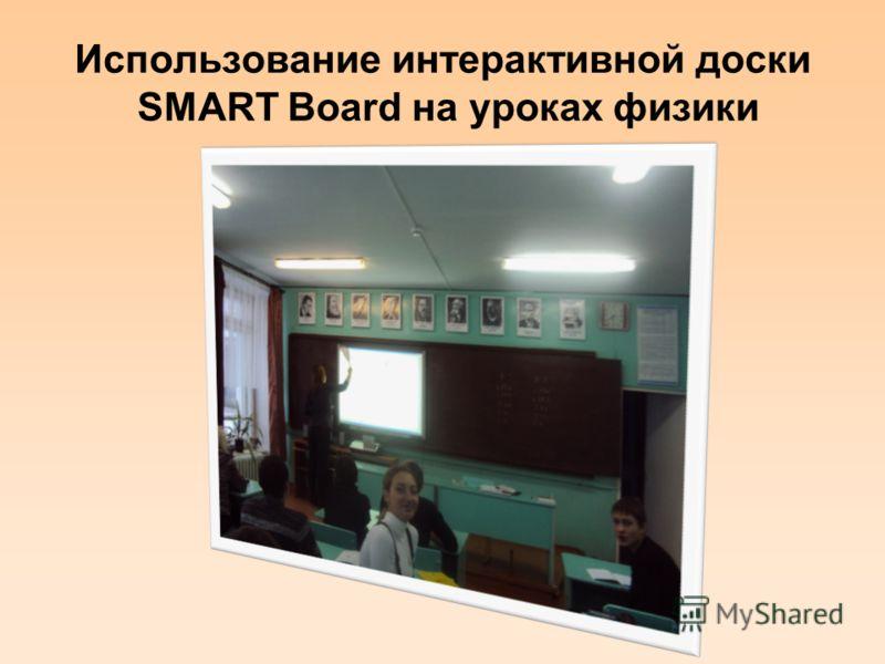 Использование интерактивной доски SMART Board на уроках физики