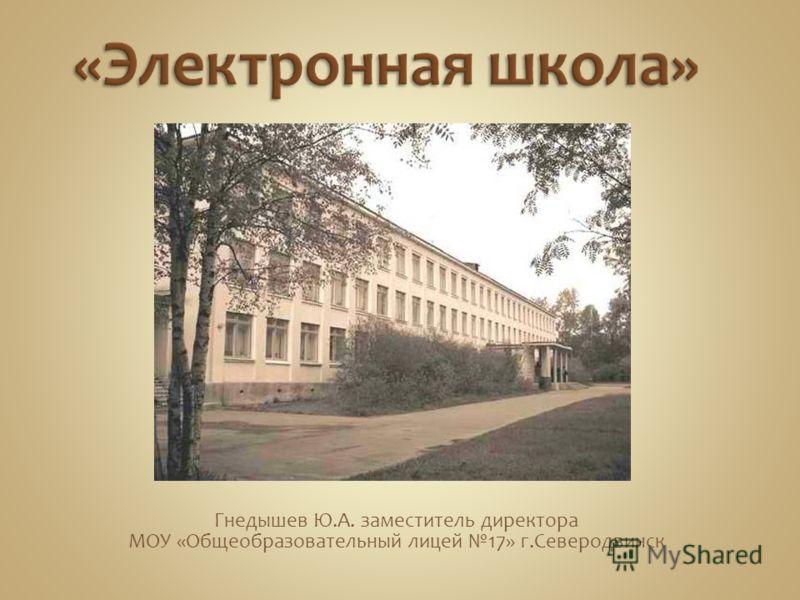 Гнедышев Ю.А. заместитель директора МОУ «Общеобразовательный лицей 17» г.Северодвинск