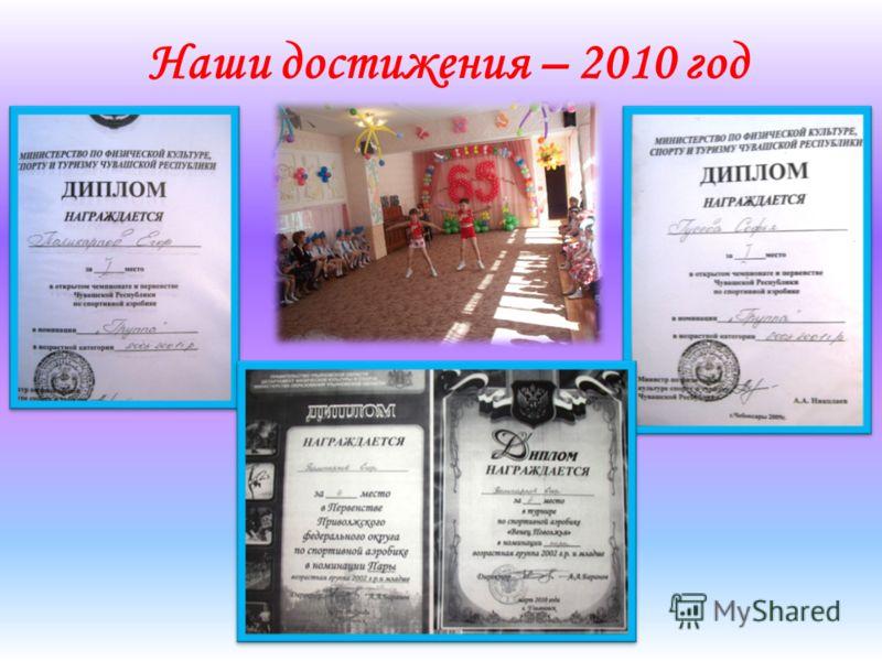 Наши достижения – 2010 год