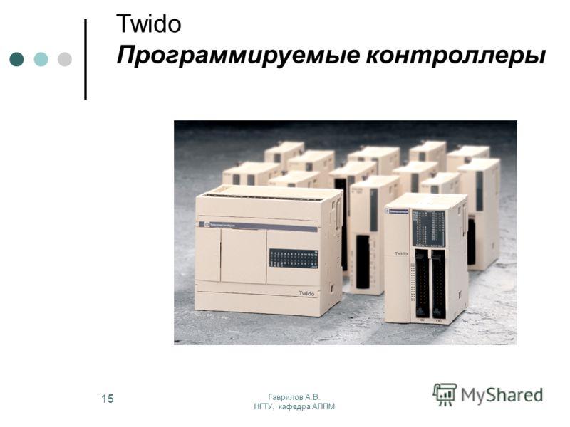 Гаврилов А.В. НГТУ, кафедра АППМ 15 Twido Программируемые контроллеры