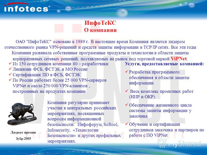 ОАО Инфотекс ИнфоТеКС О компании ОАО