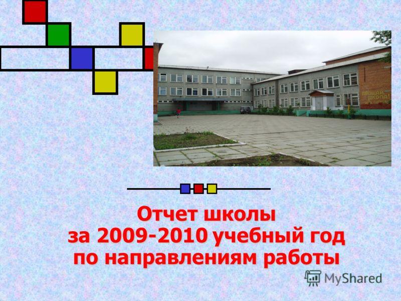 Отчет школы за 2009-2010 учебный год по направлениям работы Отчет школы за 2009-2010 учебный год по направлениям работы