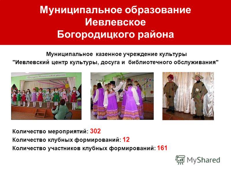 Муниципальное образование Иевлевское Богородицкого района Муниципальное казенное учреждение культуры