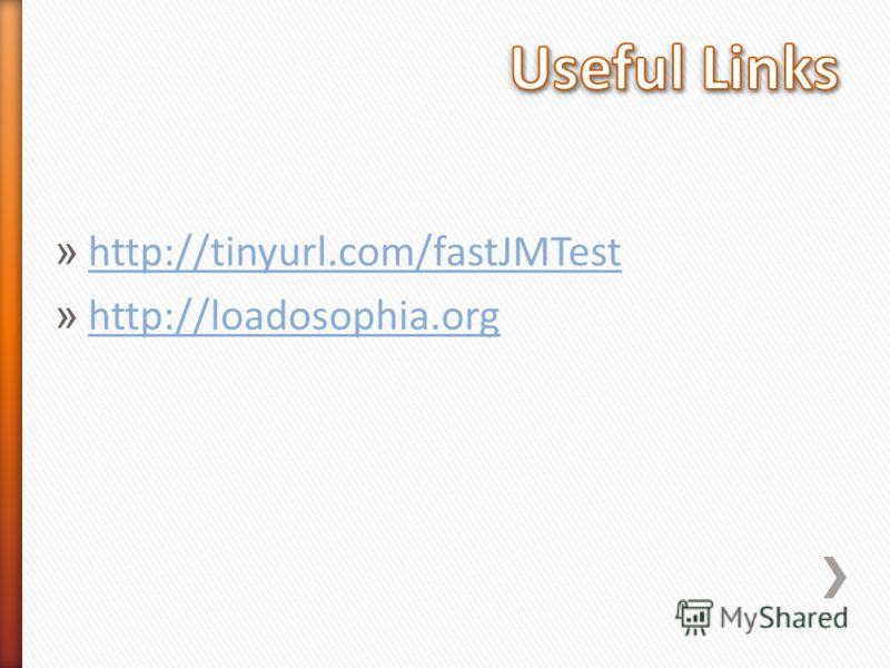 » http://tinyurl.com/fastJMTest http://tinyurl.com/fastJMTest » http://loadosophia.org http://loadosophia.org