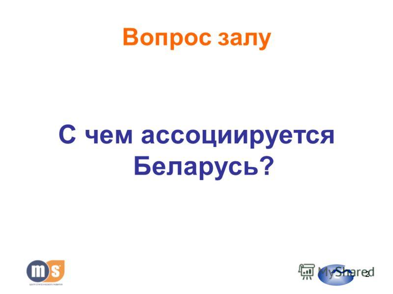 2 Вопрос залу С чем ассоциируется Беларусь?
