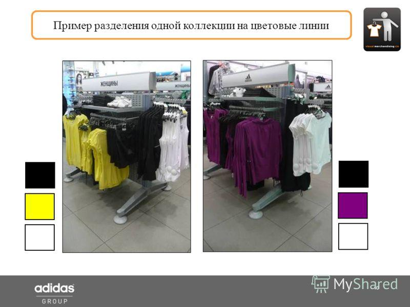 10 Shop Manager Пример разделения одной коллекции на цветовые линии