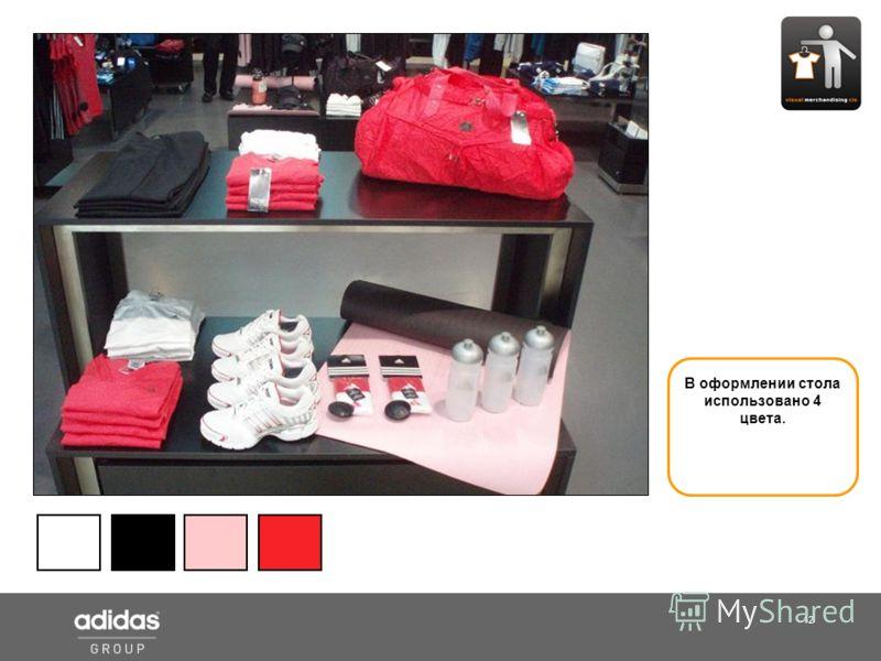 12 Shop Manager В оформлении стола использовано 4 цвета.