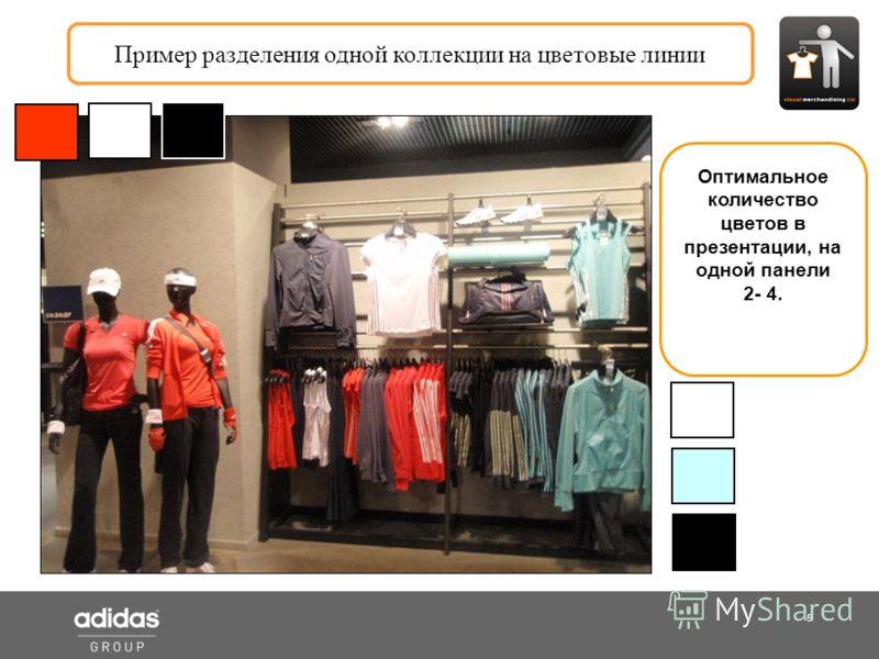 5 Shop Manager Пример разделения одной коллекции на цветовые линии Оптимальное количество цветов в презентации, на одной панели 2- 4.