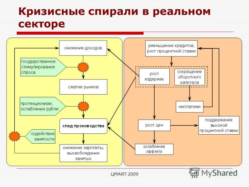 ЦМАКП 2009 Кризисные спирали в реальном секторе