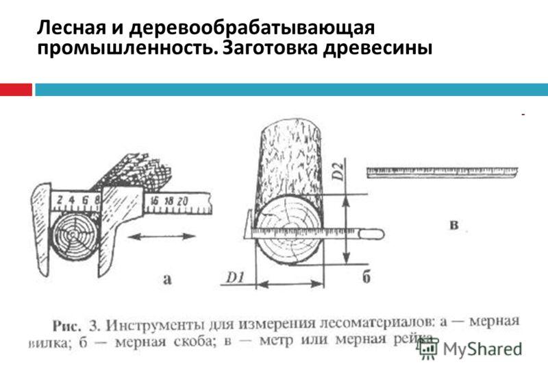 Лесная и деревообрабатывающая промышленность. Заготовка древесины