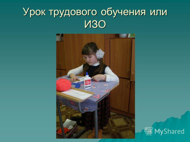Урок трудового обучения или ИЗО