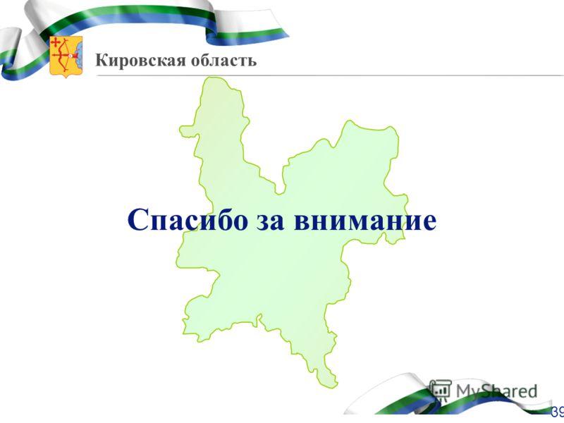 Кировская область Спасибо за внимание 39