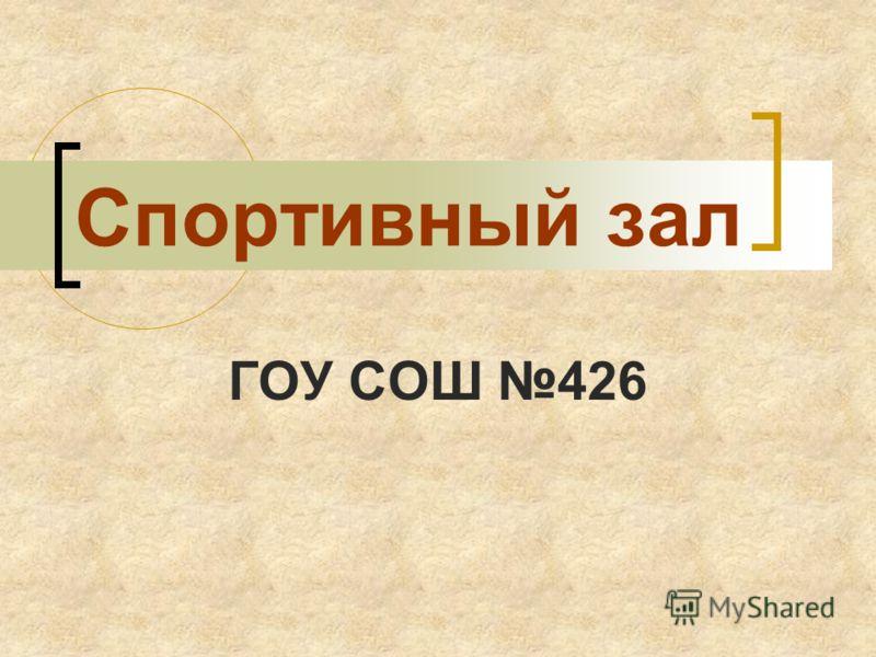 Спортивный зал ГОУ СОШ 426