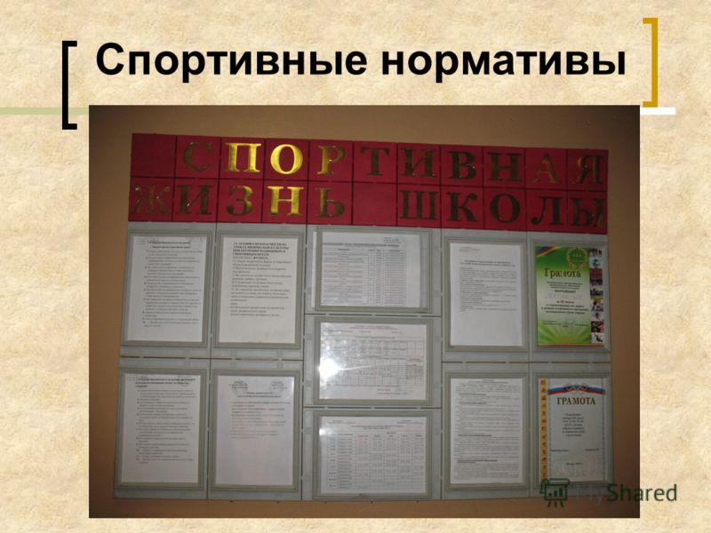 Спортивные нормативы