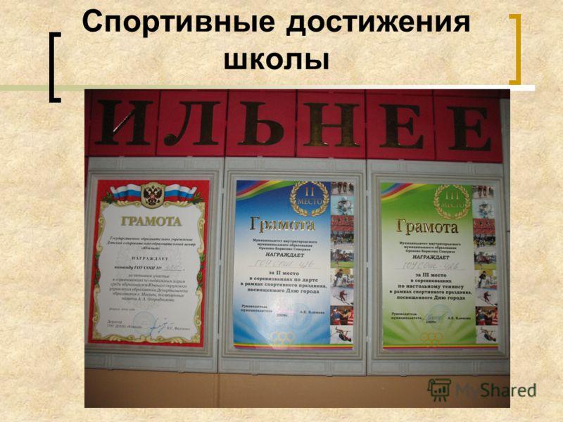 Спортивные достижения школы