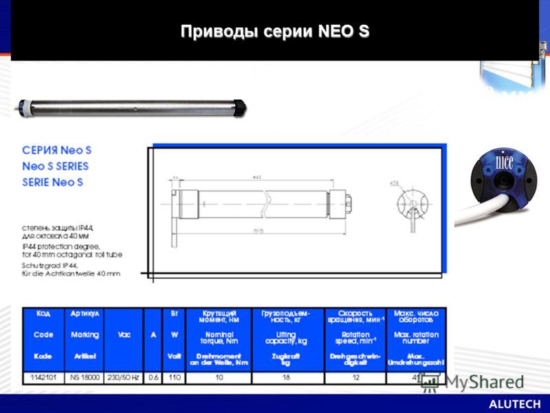 Приводы серии NEO S Вал 40 мм