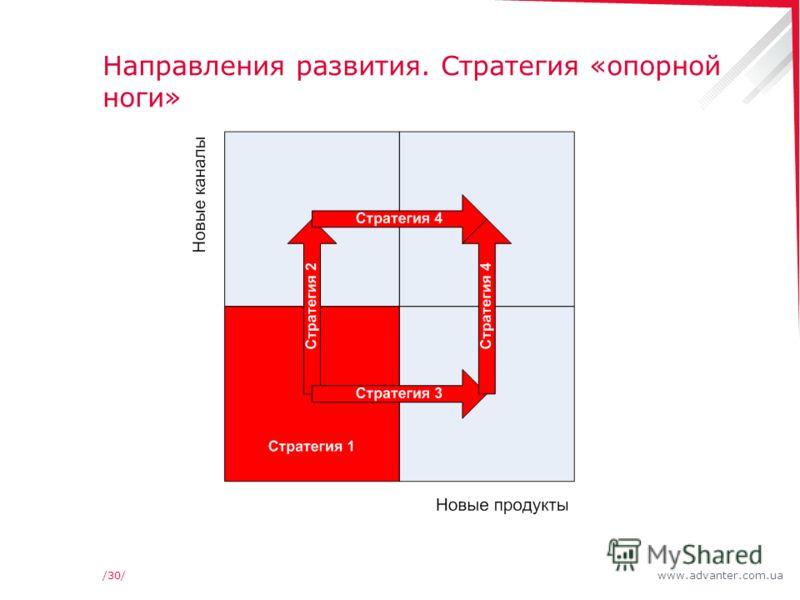 www.advanter.com.ua/30/ Направления развития. Стратегия «опорной ноги»