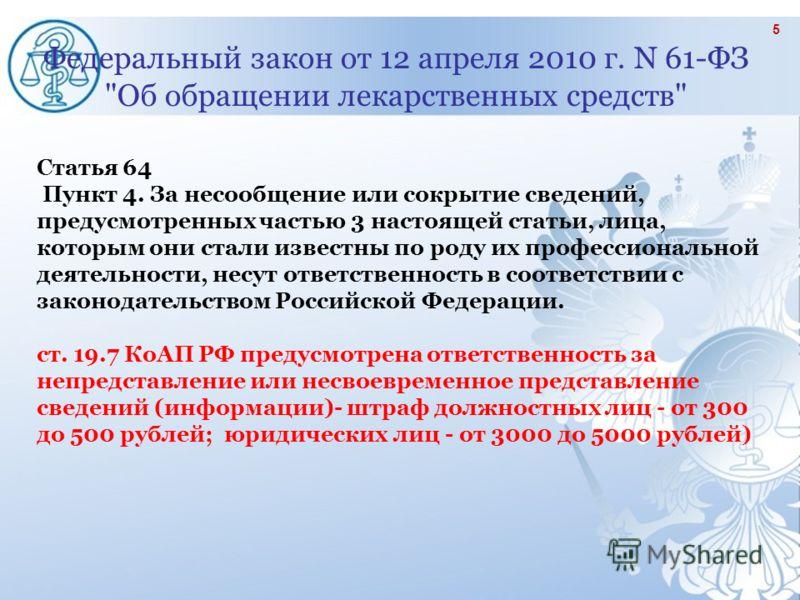 Федеральный закон от 12 апреля 2010 г. N 61-ФЗ