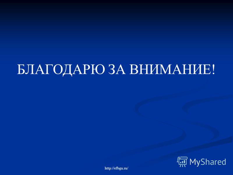БЛАГОДАРЮ ЗА ВНИМАНИЕ! http://efbgu.ru/
