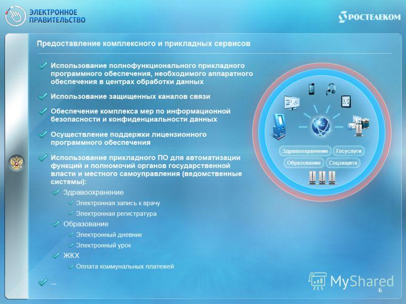 Предоставление комплексного и прикладных сервисов 6