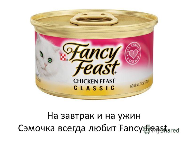 На завтрак и на ужин Сэмочка всегда любит Fancy Feast.