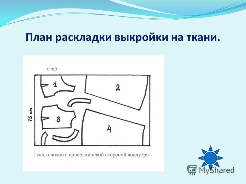План раскладки выкройки на ткани.