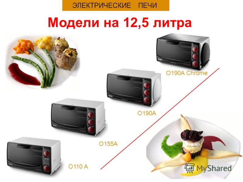 O155A ЭЛЕКТРИЧЕСКИЕ ПЕЧИ Модели на 12,5 литра O110 A O190A O190A Chrome