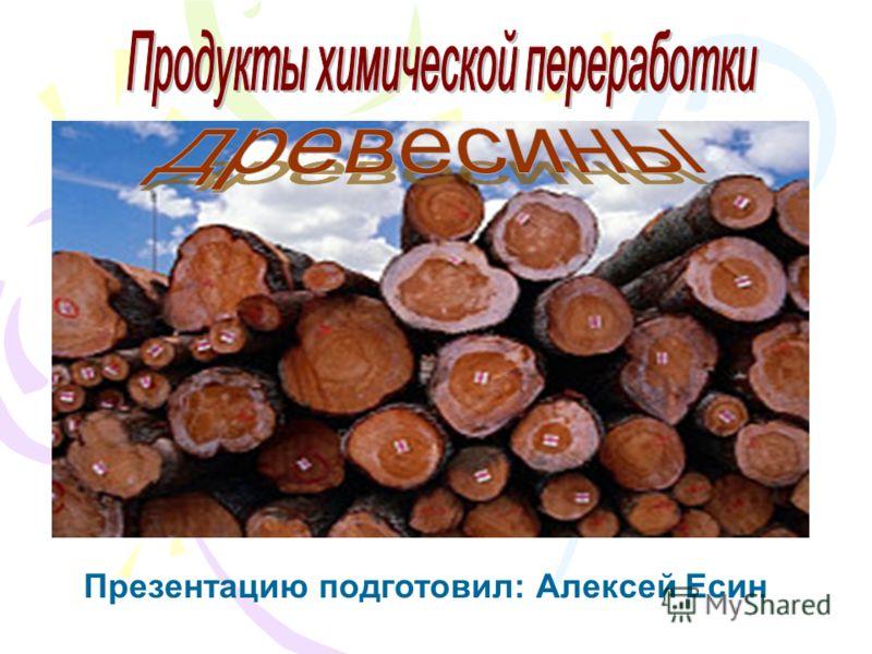 Презентацию подготовил: Алексей Есин