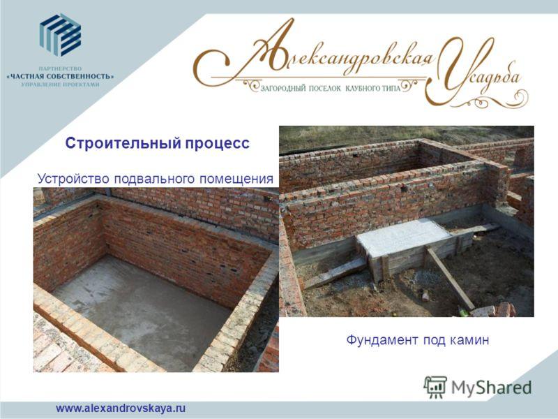 Устройство подвального помещения Фундамент под камин Строительный процесс www.alexandrovskaya.ru