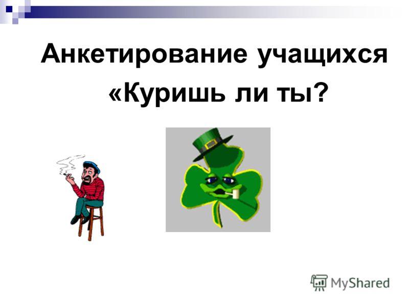 Анкетирование учащихся «Куришь ли ты?