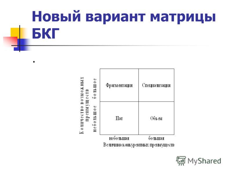 Новый вариант матрицы БКГ.