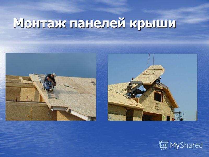 Монтаж панелей крыши